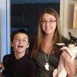 The Maynard kids with their dog