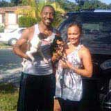 Cory Gibbs of hte MLS with entertainer wife Zena
